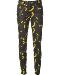 Kenzo Abstract Print Skinny Jeans - Lyst