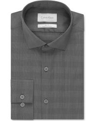 Calvin Klein Platinum Excalibur Bold Check Dress Shirt - Lyst