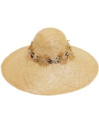 Kreisi Couture - Bau Margherite Embroidered Straw Hat - Lyst
