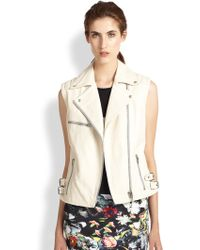 McQ by Alexander McQueen Leather Motorcycle Vest - Lyst