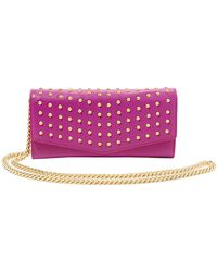 B Brian Atwood | Blake Studded Leather Clutch | Lyst