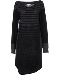 Patrizia Pepe Knee-Length Dress black - Lyst