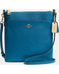 Coach North/South Swingpack In Embossed Textured Leather - Lyst