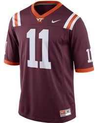Nike Mens Virginia Tech Hokies Replica Football Game Jersey - Lyst