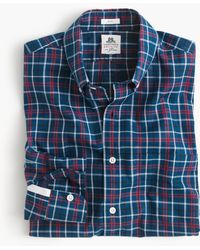 J.Crew Slim Thomas Mason Washed Shirt In Cambridge Blue Plaid blue - Lyst