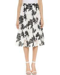 Nanette Lepore Escapade Skirt white - Lyst