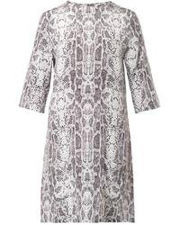 Equipment Aubrey Snake Skin Print Silk Dress - Lyst