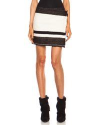 Isabel Marant Adelaide Blanket Woolblend Skirt - Lyst