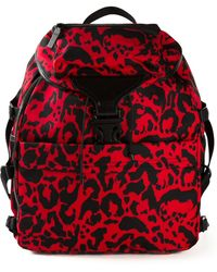 Alexander McQueen Tech Leopard-Print Leather Backpack - Lyst