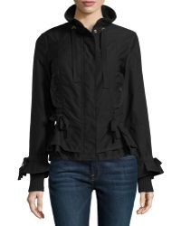 RED Valentino Back-Peplum Zip-Front Jacket - Lyst