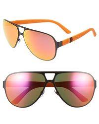 Gucci 62Mm Aviator Sunglasses black - Lyst
