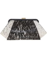 Zac Zac Posen Pony Hair Clutch With Snake Chain - Lyst