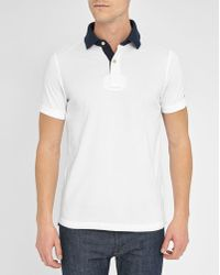 Tommy Hilfiger | White Terrence Flag Collar Revers Piqué Polo Shirt | Lyst