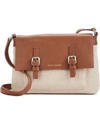 Cole Haan Double Buckle Crossbody Bag brown - Lyst