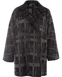 Oska - Dark Grey Checked Coat - Lyst