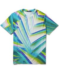 Christopher Kane Pages Printed Cotton-Jersey T-Shirt - Lyst