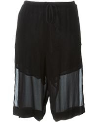 Lost & Found - Layered Knee Shorts - Lyst