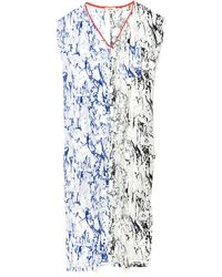 Lemlem   Lemlem Hana Silk Caftan Dress In Blue/black   Lyst