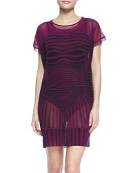 Jean Paul Gaultier Optical Sheer Mesh Tunic Cover Up - Lyst