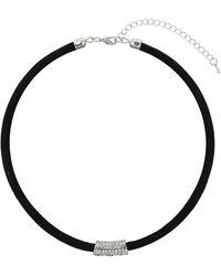Topshop Rhinestone Bar Tube Necklace - Lyst