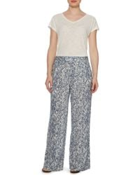 Linea Weekend - Shadow Tribe Printed Trouser - Lyst