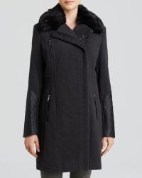 Marc New York Paula Mixed-Media Trench Coat - Lyst