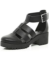 River Island Cut Out Buckle Hybrid Shoes - Lyst