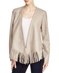 Bernardo - Faux Leather Fringe Jacket - Compare At $150 - Lyst