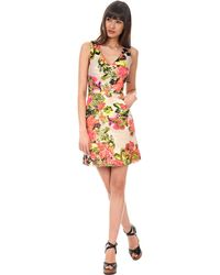Kay Unger Floral Print Dress - Lyst