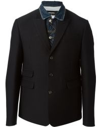DSquared2 Denim Detail Blazer - Lyst