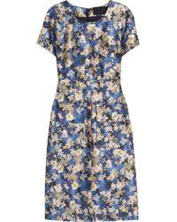J.Crew - Collection Floralprint Woolblend Dress - Lyst