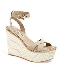 Miu Miu 'Calzature Donna' Wedge Sandal - Lyst
