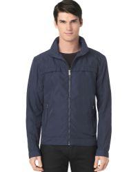 Calvin Klein Twill Hidden Hoodie Jacket - Lyst