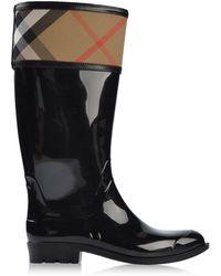 Burberry Black Rainboots  Wellies - Lyst