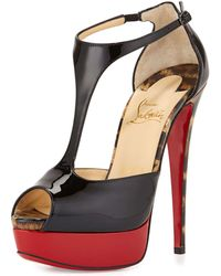 Christian Louboutin Jailopa Patent Red Sole Pump red - Lyst