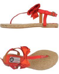 Lanvin Red Thong Sandal - Lyst