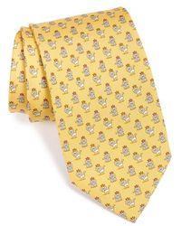 Ferragamo Lion Print Silk Tie - Lyst