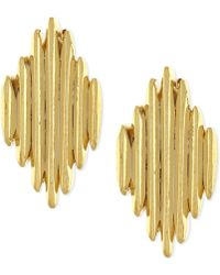 Vince Camuto - Gold-tone Spiky Stud Earrings - Lyst