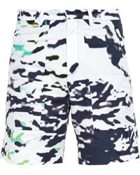 Tim Coppens - Printed Patch-pocket Cotton Shorts - Lyst