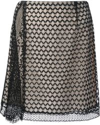 Sharon Wauchob - Lace Panel Skirt - Lyst