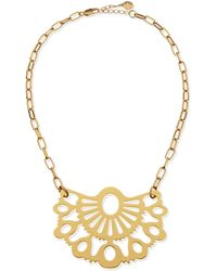 Tory Burch Madura Fan Pendant Necklace - Lyst