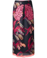 Sonia Rykiel Abstract Print Skirt - Lyst
