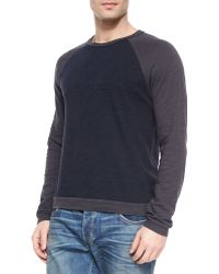 Rag & Bone Long-Sleeve Baseball Sweater - Lyst