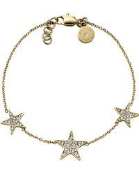 Michael Kors Golden Pave Star Bracelet - Lyst