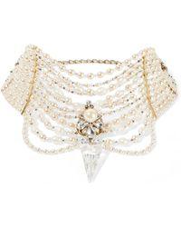 Erickson Beamon - Swan Lake Gold-plated, Faux Pearl And Swarovski Crystal Choker - Lyst