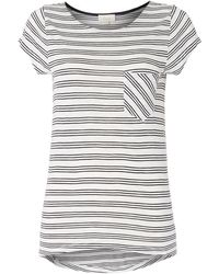 Linea Weekend Triple Stripe Tee - Lyst