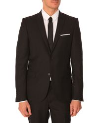 The Kooples Black Slim-Fit Suit Jacket - Lyst