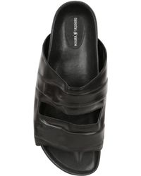 Miharayasuhiro - Invisible Belt Leather Slide Sandals - Lyst