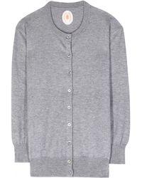 Jardin Des Orangers Cotton and Cashmere-Blend Cardigan gray - Lyst