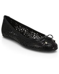 Jimmy Choo Walsh Perforated Leather Ballet Flats - Lyst
